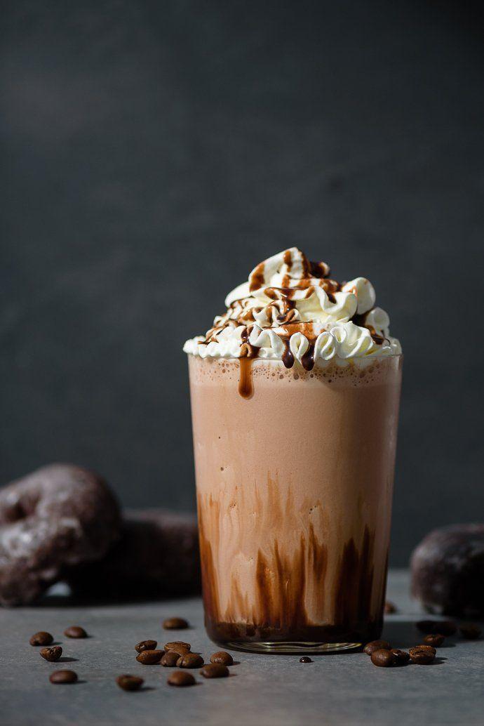 Double Chocolate Blended Iced Mocha Fork Knife Swoon Recipe Ice Coffee Recipe Mocha Recipe Coffee Recipes