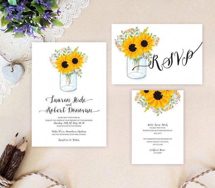 Sunflower wedding theme #weddingthemes