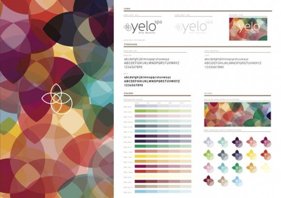 Beautiful use of Color in branding // yelo spa by 'the apartment' (NY)