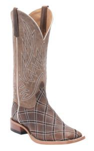 Anderson Bean® Horse Power™ Men's Distressed Brown with Moka Zigzag Patchwork Square Toe Western Boots | Cavender's