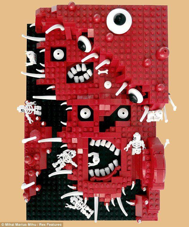 Los 9 círculos del infierno de Dante en Legos