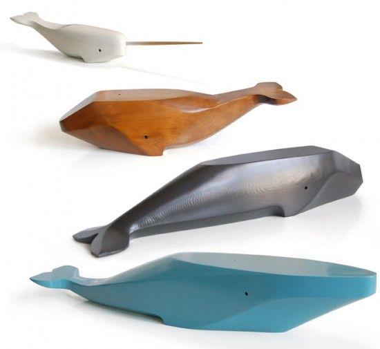 Carved Wood Whales – Areware Animal Boxes – Wooden Toys   Small for Big