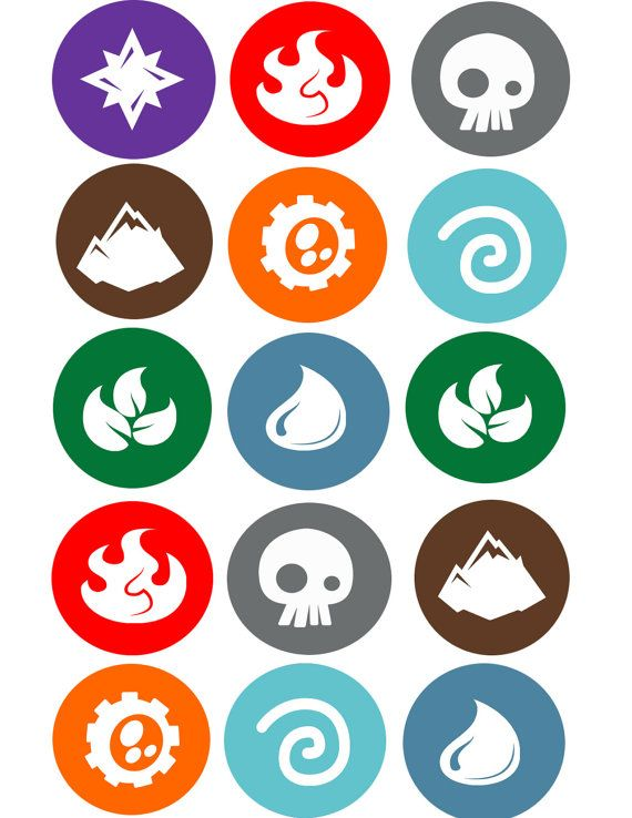 Elements  2 inch toppers by topAcake on Etsy, $9.99