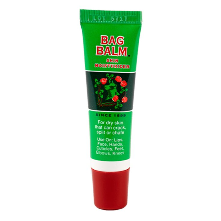 Everything you love about Bag Balm, in a handy on-the-go tube. Portable, reclosable, and TSA-friendly. Ideal for a purse or pocket. With an angled tip for applying directly to lips or cuticles. Ideal for chapped or chafed skin from long rungs, hikes, or bike trips.