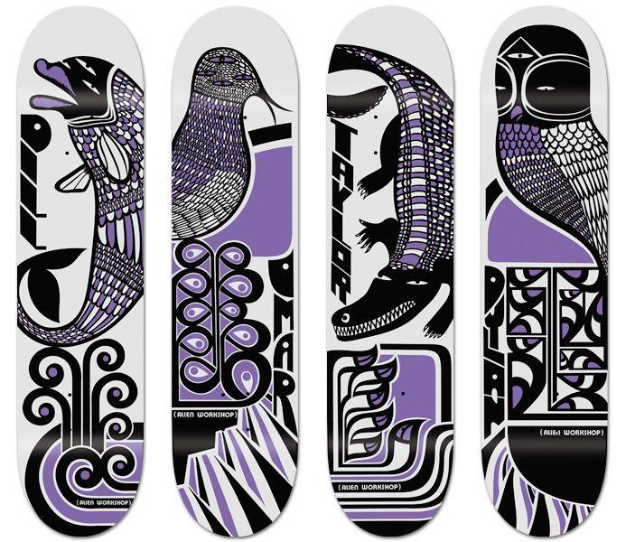 Alien Workshop Skateboards by Anthony Yankovic, via Behance