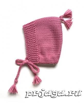 Детская шапочка – капор спицами