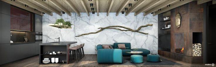 Интерьер Будды   Дизайн интерьера квартир, проектирование домов, ресторанов, офисов - Yunakov Архитектурное бюро мастерская