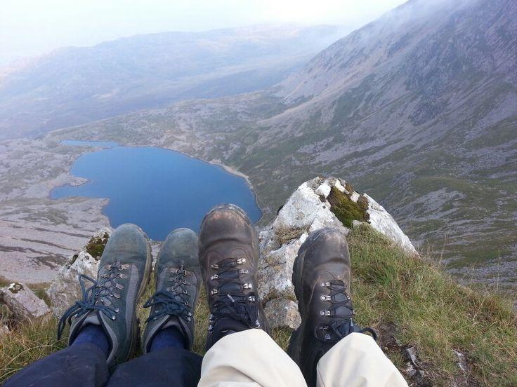 18. Mr & Mrs P admiring the view of Goat Lake before reaching the summit of Cadair Idris #100happydays