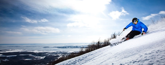 Mont St. Anne, one of Quebec's most favoured ski mountains