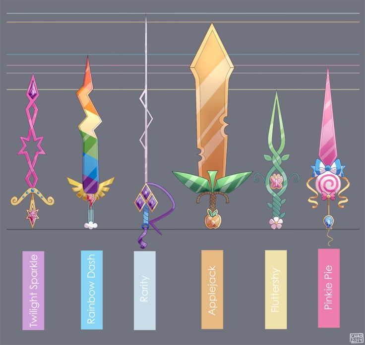 Mane Six Swords - Final by ChocoChaoFun on DeviantArt