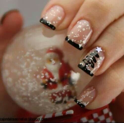Another cute Christmas look only I would prefer white tips