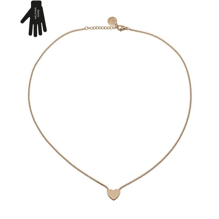 This gorgeous Together Necklace from Swedish jewellery designers Edblad is a rose gold necklace with a miniature heart pendant.