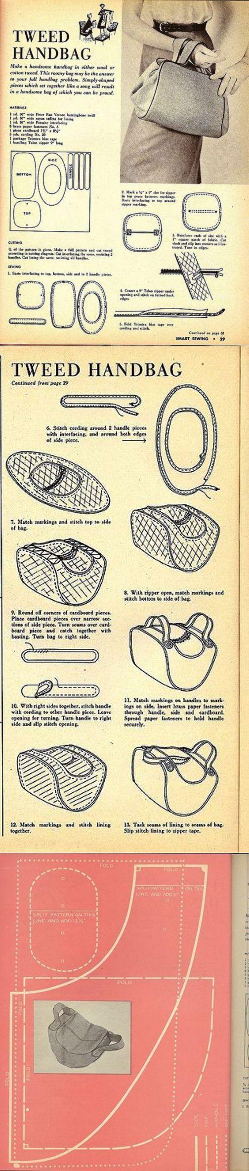 Выкройка сумки 1953г / Простые выкройки / ВТОРАЯ УЛИЦА