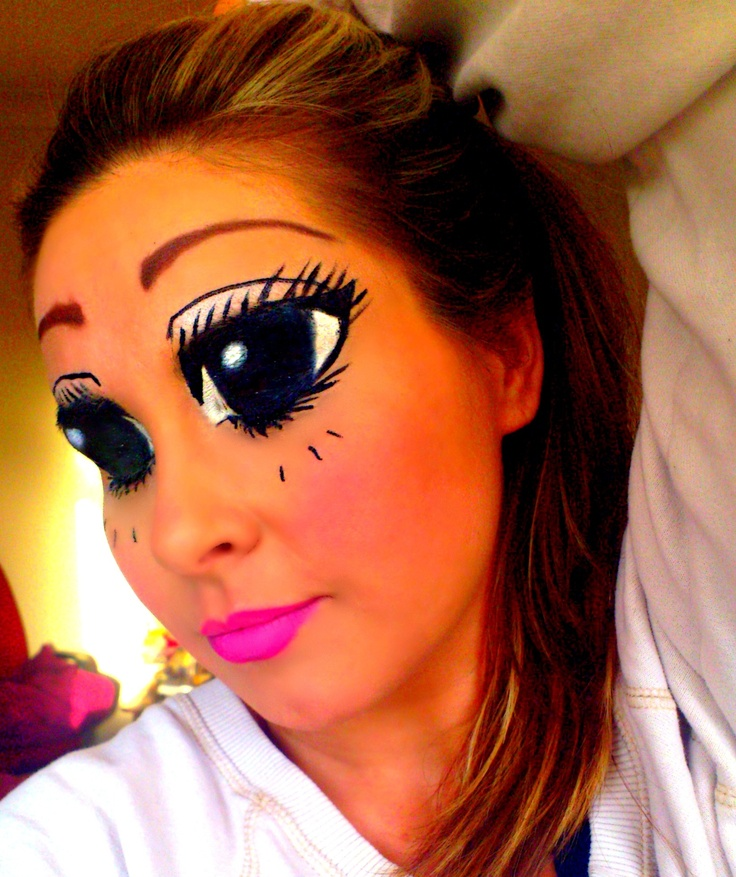 fun anime eye makeup, it was freaking my bf out ;) DIY