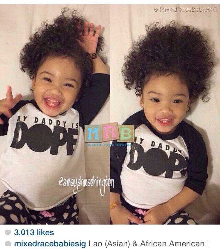 Half black half Asian baby