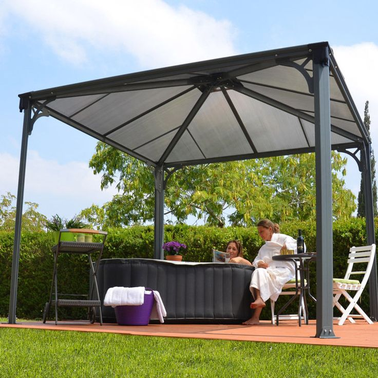 Garden Gazebo Outdoor Canopy Decking Patio Al Fresco Dining Relax Home BBQ  Party