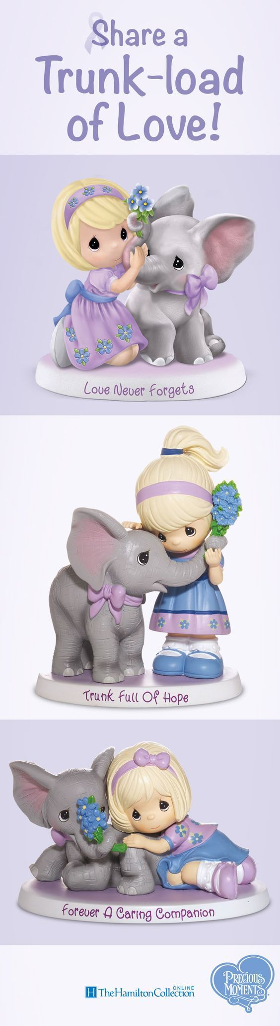 Each one is sweeter than the last! Let this Alzheimer's awareness elephant figurine collection be a heartwarming reminder that love never forgets.