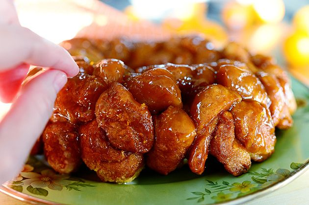 Orange-Vanilla Monkey Bread -- I still prefer monkey bread made with Bridgeford frozen bread dough, but whether made with yeast dough or canned biscuits, the orange zest is a nice flavor change