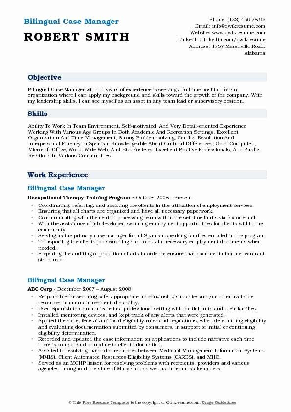 Case Manager Resume Examples Inspirational Bilingual Case Manager Resume Samples Resume Examples Good Resume Examples Job Resume Examples