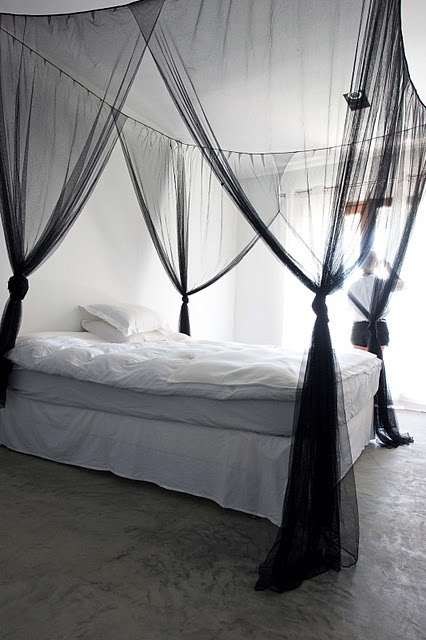 dreamy.Ideas, Beds Canopies, White Beds, Vintage Bedrooms, Home Decor, Canopies Beds, House, Bedrooms Decor, Black
