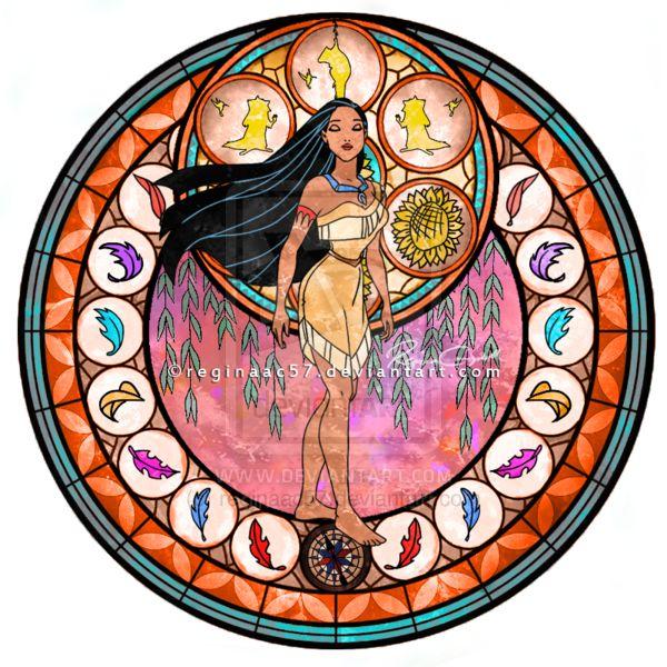 Pocahontas - Kingdom Hearts Stain Glass by ~reginaac57 on deviantART