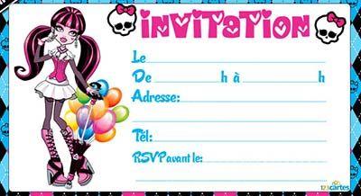 Carte Invitation Anniversaire A Imprimer Gratuit Fille Jpg 400 218