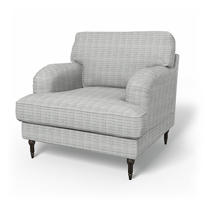 Stocksund, Armchair Covers, Armchair, Regular Fit using the fabric Woven Whimsy Cloud