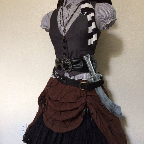 Adult Steampunk Brown Ruffle Crinoline Skirt Underskirt Womens Costume Accessory