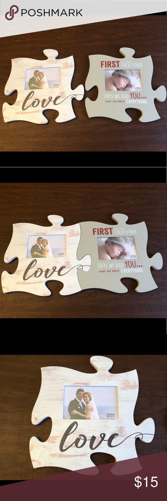 2 new puzzle piece picture frames Puzzle piece picture