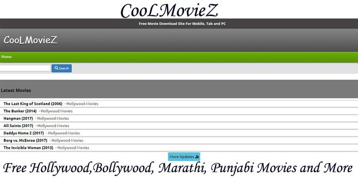 The CoolMoviez is a great site where you can download varieties of movies and videos, and also get to stream the trailers of upcoming movies. So, get