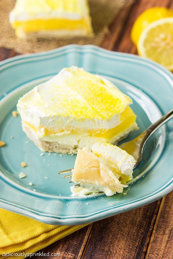 Lemon Pie Bars - super simple to make!