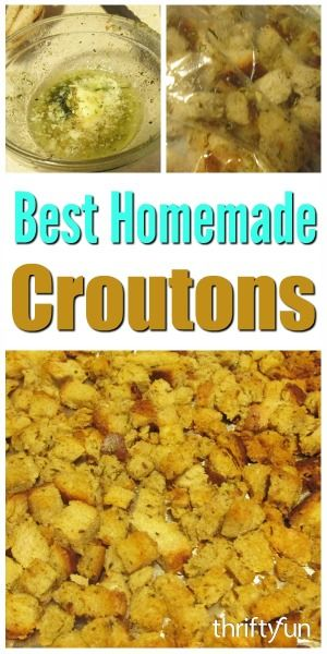 Homemade croutons are delicious, inexpensive and easy to make. This guide has the best homemade crouton recipes.