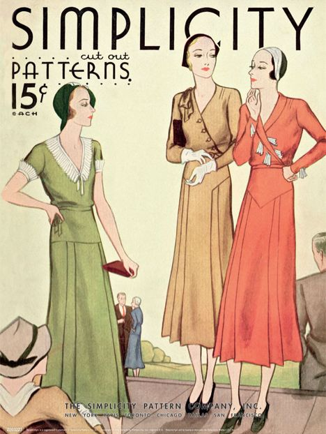 Vintage Simplicity Patterns poster (1920s) | Hay Fever ...
