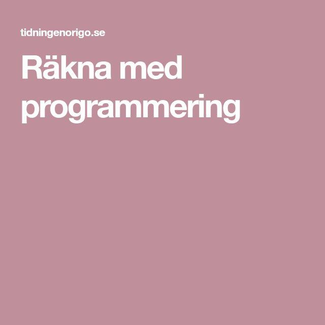 Räkna med programmering