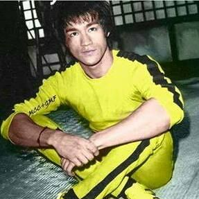 Bruce on the set of Game Of Death. He would be dead in a matter of days.