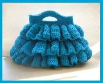 Bella Ruffled Bag - Free Digital Crochet Pattern