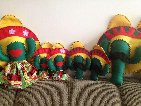 Cactos Mexicano em Feltro