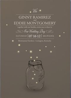 Firefly wedding invitation from Minted