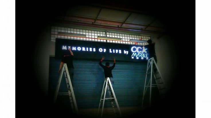 "A new signage ""Memories Of Life By CCK MARBLE """