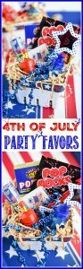 4th of July party favor baskets for kids – keep kids entertained while they wait for the parade or big fireworks show with this patriotic party favor basket