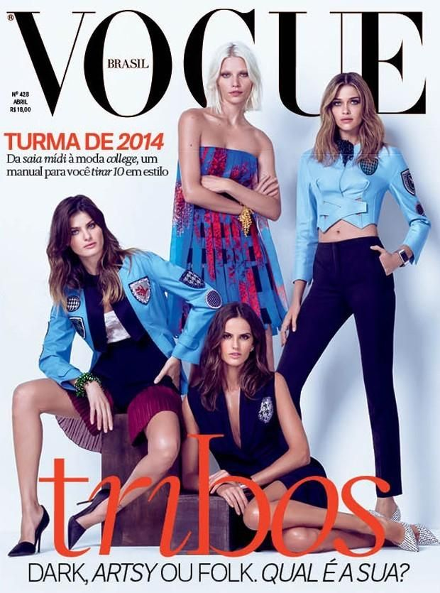 Isabeli Fontana - Aline Weber - Izabel Goulart - Ana Beatriz Barros - Vogue Brasil, April 2014