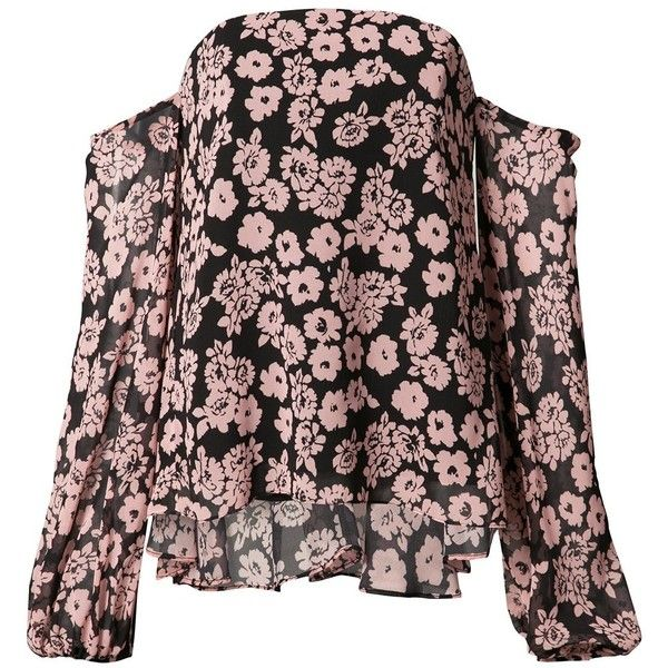 Milly floral print off-shoulder blouse (€305) ❤ liked on Polyvore featuring tops, blouses, milly tops, off shoulder blouse, off the shoulder blouse, off shoulder tops and floral off shoulder top