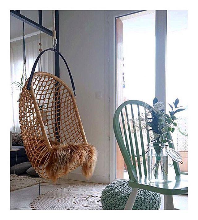 BLOGGED// mes nouvelles chaises vert-menthe @desamble_ Apaixonada pelas minhas cadeiras verdes!  #home #Decor #homedecor #instahome #madecoamoi #hammock #green #lighting #flowers #flowerstagram #verriere #salon #athome #scandinave #bohemianstyle #inspiration #instadecor #instamood #myredoute #ampm