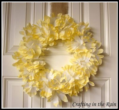 Tutorials: Coffee filter flower wreath; drawer planter