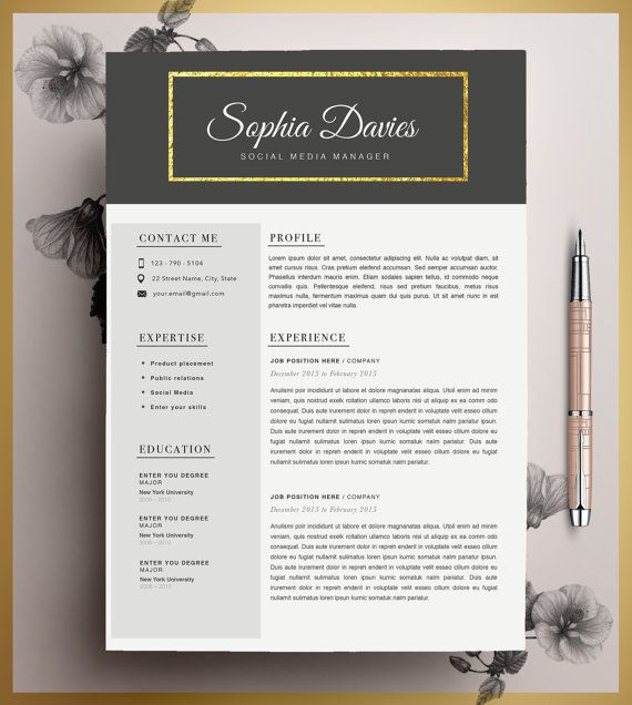 10 best cv images on Pinterest Resume templates, Cv template and