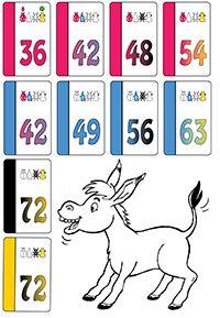 ezelen met Joepkaarten -  De kaarten worden geschud en verdeeld. De spelers beslissen voor zichzelf welke kaarten ze willen gaan verzamelen, om uiteindelijk 4 kaarten uit dezelfde tafel (of kleur) te krijgen. Alle spelers pakken 1 kaart van zichzelf die ze niet nodig hebben, en schuiven deze naar de speler links. Dit wordt  herhaald tot  iemand 4 dezelfde kaarten heeft. Heb je 4 dezelfde kaarten, sla dan met je hand op tafel. De rest doet ...