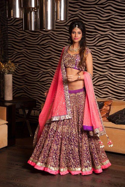 Gorgeous lehenga. Purple wedding clothes