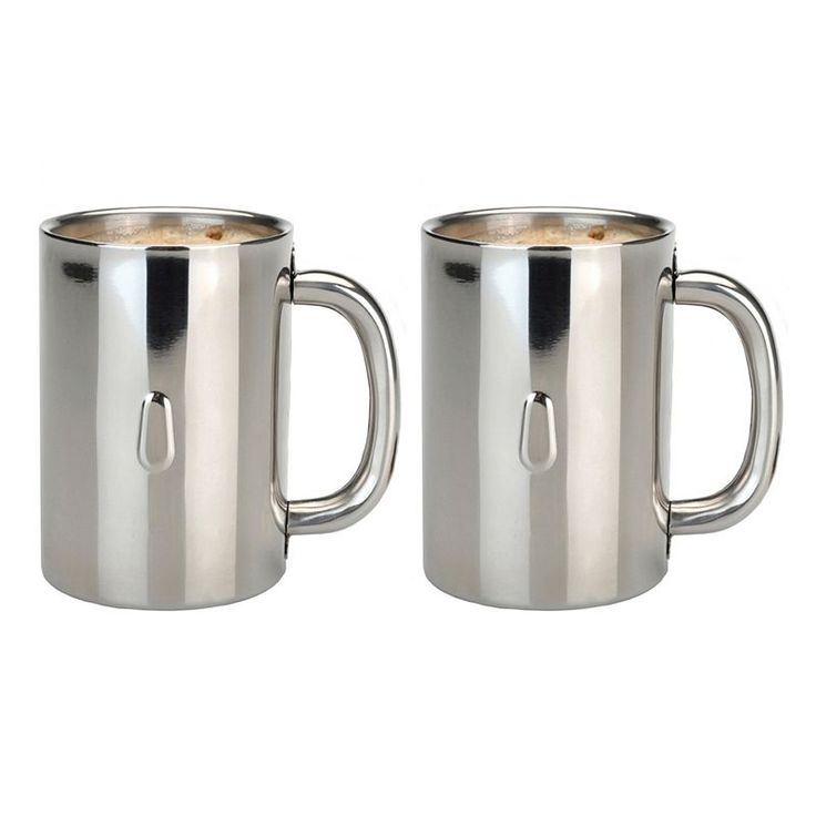 Berghoff Straight 2-pc. Stainless Steel Coffee Mug Set, Multicolor