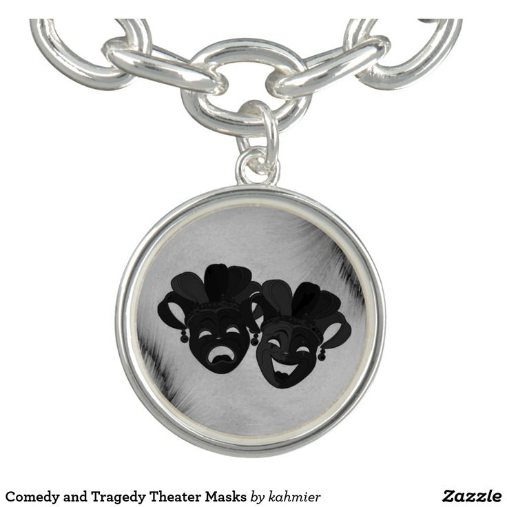 Comedy and Tragedy Theater Masks Bracelet