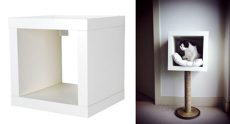 12 geniale ikea hacks speziell f r deine katzen die du nicht verpassen solltest katzenm bel. Black Bedroom Furniture Sets. Home Design Ideas